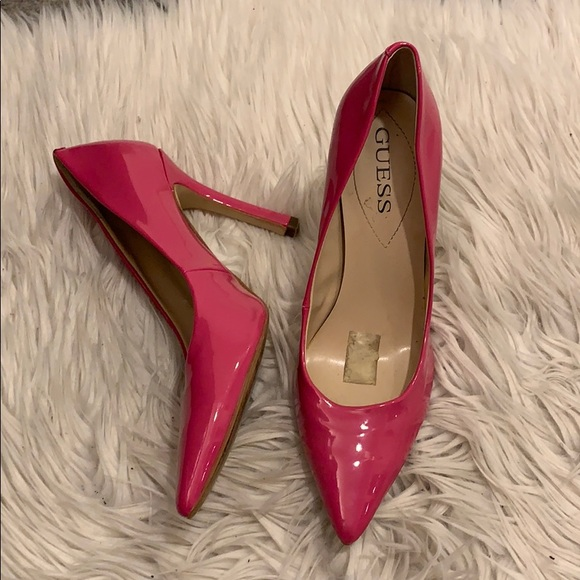 18a1923acfa Guess Pink Patent Leather Pumps